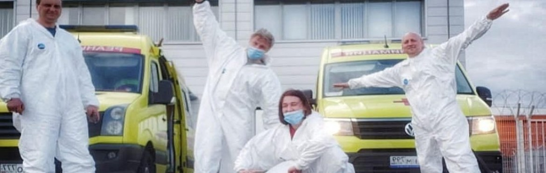 Специализированная перевозка на реанимобиле из московского аэропорта в инфекционный корпус больницы г.Москвы больной 72 лет с двухсторонней вирусной пневмонией