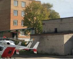 Организации вертолетной транспортировки из ЦРБ г. Руза в московский ожоговый центр нашим консультантом реаниматологом больного 45 лет с ожогами.