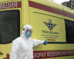 Специализированная перевозка на реанимобиле из подмосковного стационара в инфекционный корпус московского стационара больной с двухсторонней вирусной пневмонией